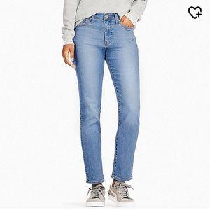 Uniqlo High Rise Cigarette Jeans in 64 Blue